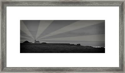 Lighthouse Framed Print by Nancy Ingersoll