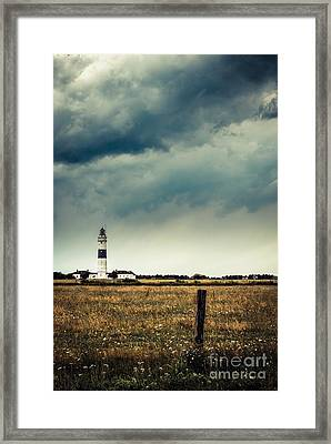 Lighthouse Of Kampen -vintage Framed Print by Hannes Cmarits