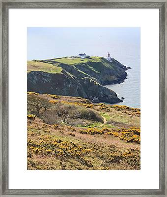 Lighthouse On Howth Cliffs Framed Print by Semmick Photo