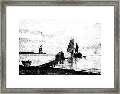 Lighthouse Point Framed Print by George Pedro