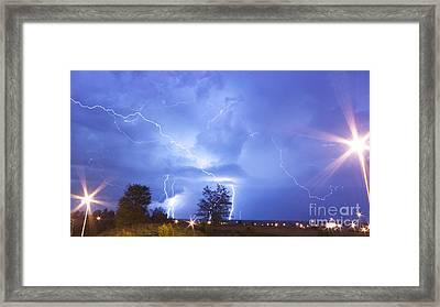 Lightning-5393 Framed Print by Chuck Smith