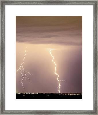 Lightning Bolt With A Fork Framed Print by James BO  Insogna