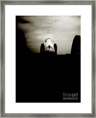 Like A Shotgun To The Belly Of A Sparrow  Framed Print by Steven  Digman