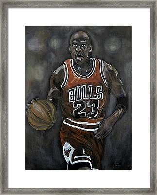 Like Mike Framed Print by Brad Coleman