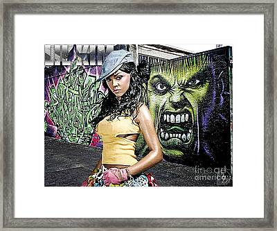 Lil Kim Framed Print by The DigArtisT