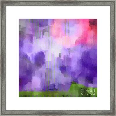 Lilac Light Framed Print by Lutz Baar