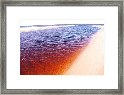 Lilaste River Framed Print by Igors Parhomciks