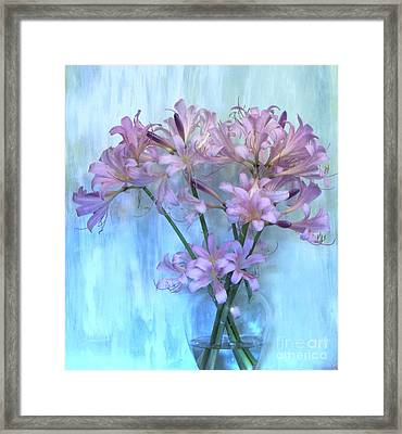 Lilies Pink Framed Print by Marsha Heiken