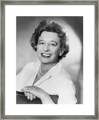 Lillian Hellman 1905-1984 Dramatist Framed Print by Everett