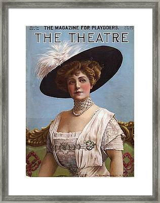 Lillian Russell On Cover Framed Print by Steve K