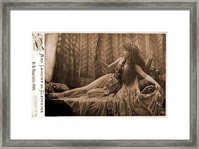 Lillie Langtry 1853-1929, As Cleopatra Framed Print by Everett