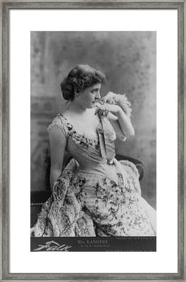 Lillie Langtry 1853-1929, In As In The Framed Print by Everett