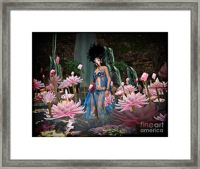 Lillies Framed Print by Georgina Hannay