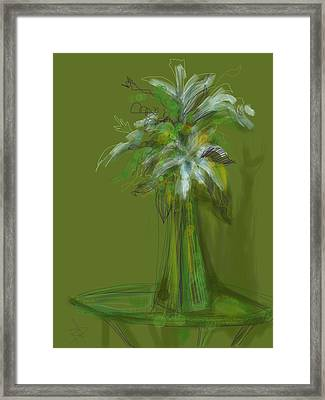 Lily Bouquet Framed Print by Russell Pierce