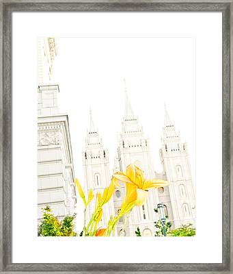 Lily Temple Funky Framed Print by La Rae  Roberts