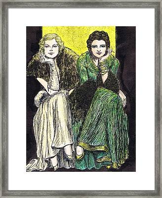 Lilyan And Kay Framed Print by Mel Thompson