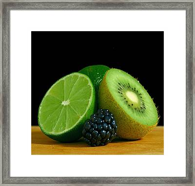 Lime It Up Framed Print by Davor Sintic