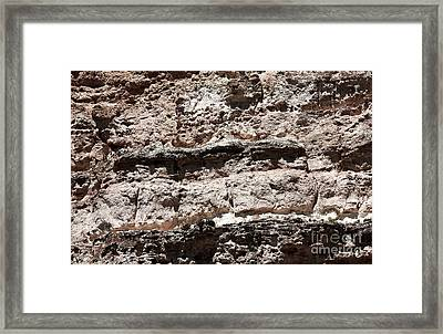 Limestone Details Framed Print by John Rizzuto