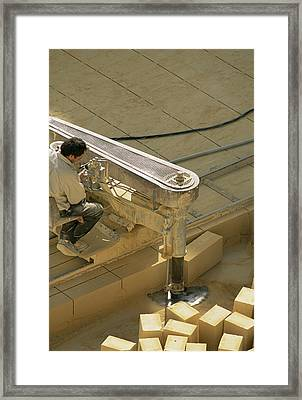 Limestone Extraction Framed Print by Alexis Rosenfeld