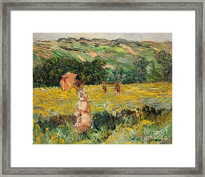 Limetz Meadow Framed Print by Claude Monet