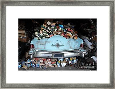 Lincoln Continental And Spare Parts - 5d18410 Framed Print by Wingsdomain Art and Photography