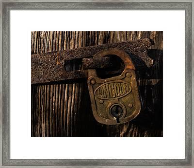 Lincoln Lock Framed Print by Steven Richardson
