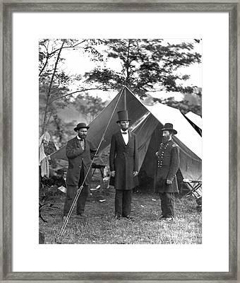 Lincoln/antietam, 1862 Framed Print by Granger