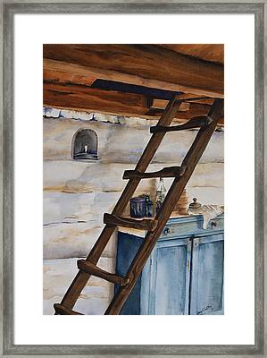 Lincoln's Ladder Framed Print by Amy Caltry