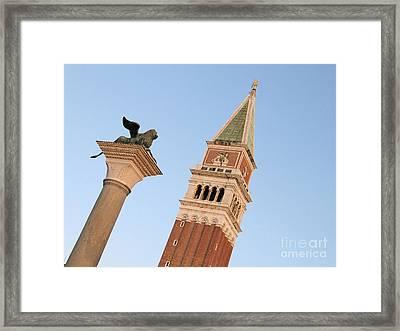 Lion Of Venice Framed Print by Bernard Jaubert