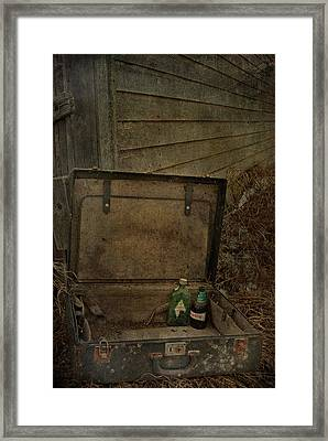 Liquid Letters Of Leaving  Framed Print by Jerry Cordeiro