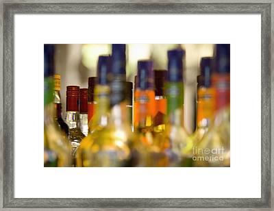 Liquor Bottles Framed Print by Shannon Fagan