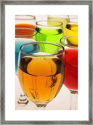 Liquor Glasses Framed Print by Garry Gay