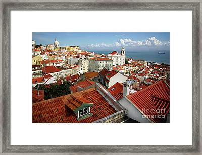 Lisbon Rooftops Framed Print by Carlos Caetano