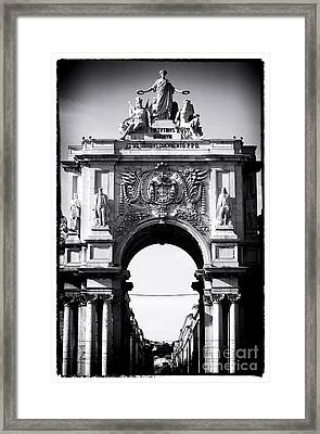 Lisbon Welcome Framed Print by John Rizzuto