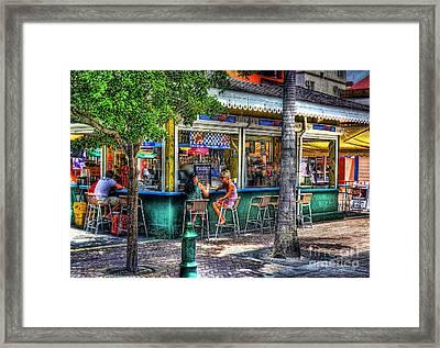 Listen To Me Framed Print by Arnie Goldstein