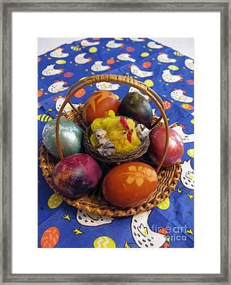 Lithuanian Easter Basket Framed Print by Ausra Huntington nee Paulauskaite