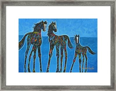 Little Blue Framed Print by Lance Headlee