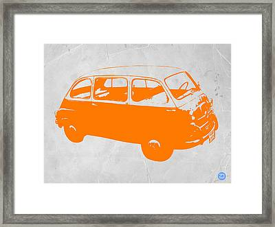 Little Bus Framed Print by Naxart Studio