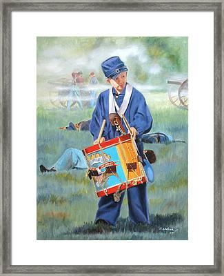 Little Drummer Boy Framed Print by Karen Wilson