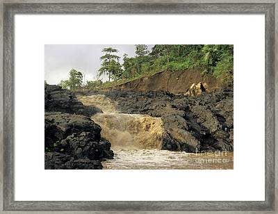 Little Falls Framed Print by Sami Sarkis