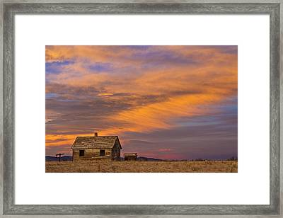 Little House On The Colorado Prairie 2 Framed Print by James BO  Insogna