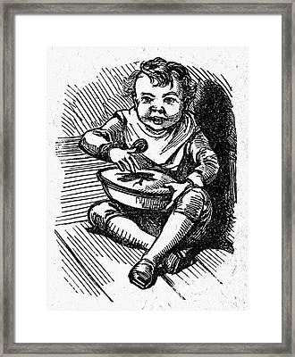 Little Jack Horner Framed Print by Granger