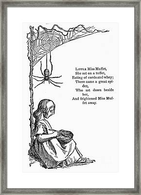Little Miss Muffet Framed Print by Granger
