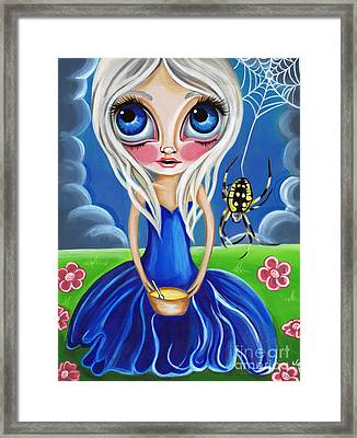Little Miss Muffet Framed Print by Jaz Higgins