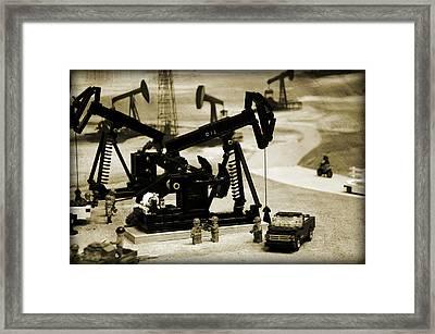 Little Pumpjacks Framed Print by Ricky Barnard