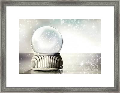 Little Red Gift Isolated On White Framed Print by Sandra Cunningham