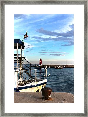 Little Red Lighthouse Framed Print by Jasna Buncic