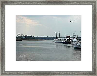 Little River Scenic Iv Framed Print by Suzanne Gaff
