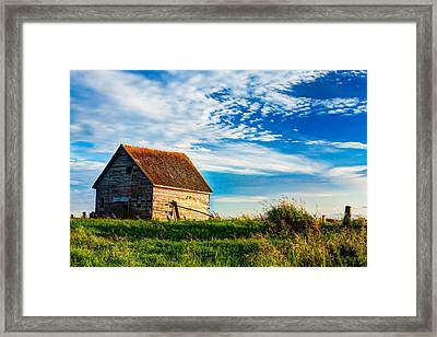 Little Shed On The Prairie Framed Print by Matt Dobson