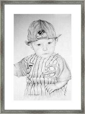 Little Slugger Framed Print by Frank Zampardi